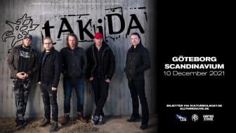 Rockbandet Takida till Scandinavium i december
