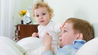 Når barnet ditt har feber