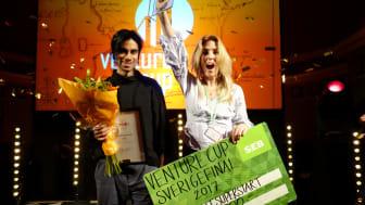 Tracy vinnare av priset Student Superstart. Fotograf Mathilda Thudin