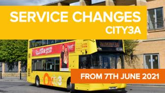 city3A service changes - 7th June 2021