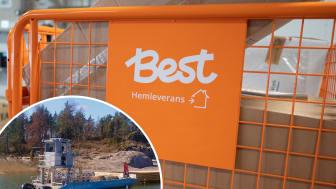 Nu börjar Best Transport med leveranser i Stockholms skärgård