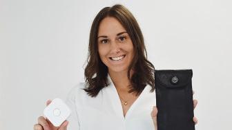 Stephanie er en smålandsk entreprenør fra Älmhult og grunnla bedriften MyPauze i 2019.