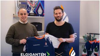 Casper Mortensen fra Elgiganten, tv. og Steffen Thomsen fra Copenhagen Flames th.