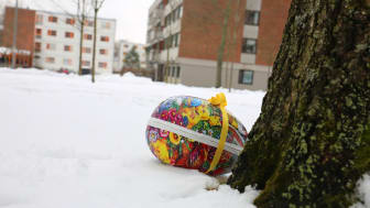SiO inviterer studenter og beboere på Kringsjå Studentby til påskeegg-jakt 5. april. (Foto: Unni Irmelin Kvam / SiO)