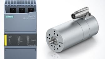 I Siemens nya produktfamilj Simatic Micro-Drive används ebm-papst drivlösningar som till ECI-motorn ECI 63.