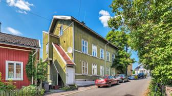 Den historiske bygningen i Tromsøgata 8 er nå til salgs.