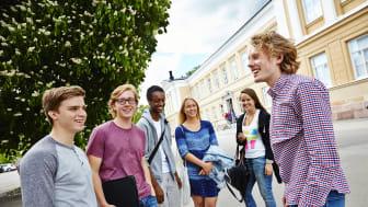 Elever vid Rudbeckianska gymnasiet