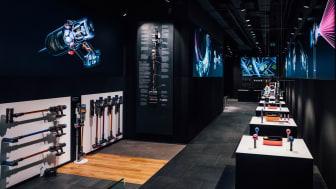 Blick in den ersten Dyson Demo Store Deutschlands in Köln
