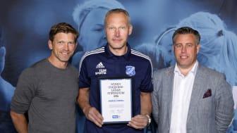 Andreas Stridell, Brokinds IF. Här tillsammans med  Jesper Blomqvist och Mikael Tykesson.