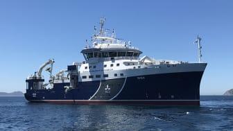 SLU:s nya forskningsfartyg R/V Svea. Foto: Malin Andersson, Sjöfartsverket