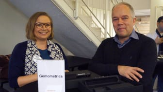 Gemometrics styrelseordförande Sabrina Suikki och grundare Torbjörn Lindvall