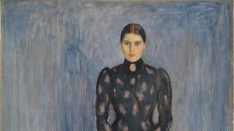 """Edvard Munch, """"Inger in Black and Violet"""", 1892"""