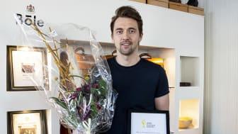 Anders Sandlund, Böle Garveri & Sandlund/Hossain, mottog priset Årets hållbarhetspris 2020. Foto: Zandra Klasson