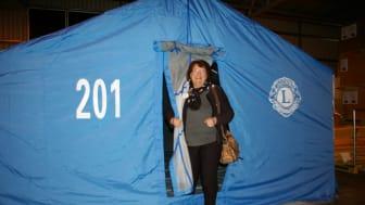 Tält från Lions till flyktingar i Grekland