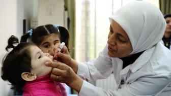 20 miljoner barn ska vaccineras på fem dagar