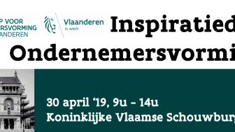 De Inspiratiedag Ondernemersvorming vindt plaats op 30 april 2019 in Brussel.