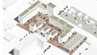 Volumenstudie til startredegørelse, Holscher Nordberg Arkitekter
