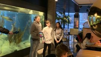 Presentasjon av konkurransebidraget foto Trude Bessesen Sjømatrådet
