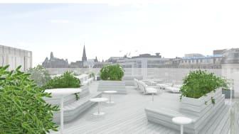 En takterrass på Clarion Hotel Malmö Live