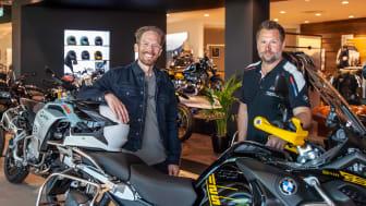 Linus Lidalen, varumärkesansvarig BMW Motorrad norra Europa och David Johansson, vd Ride Nordic