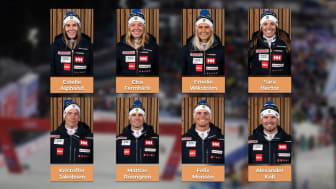 Åtta åkare har fått sina VM-biljetter till Cortina.