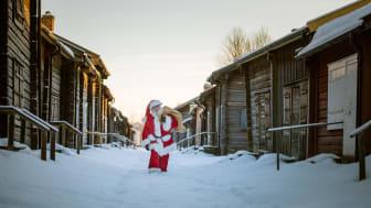 Jultomten i samarbete med butiker i Skellefteå