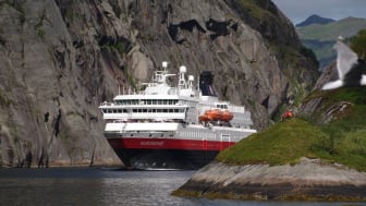 GREEN UPGRADE: As the first cruise line in the world, Hurtigruten will power their ships with liquified biogas (LBG), fossil-free, renewable fuel produced from dead fish and other organic waste. Photo: ULF HANSSON/ Hurtigruten