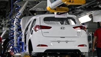 Hyundai starter produksjon av nye i20