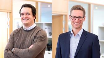 Viktor Nordenborg, tillträdande Avdelningschef Väst och Staffan Waldenström, Regionchef Syd samt vice VD Byggnads AB Tornstaden.