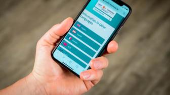 Neues fremdsprachiges Angebot - Ansicht Smartphone