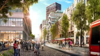 Vision Värtahamnen, urban miljö