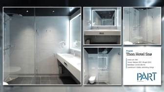 Part levererar 284 badrum till projektet Thon Hotel Snø i Norge.