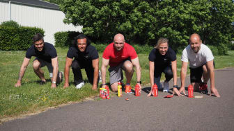 Frank, Jonas, Thomas, Jennifer och Tomas är redo inför nya samarbetet med Enervit!