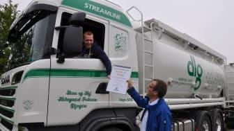 Glyngøre-vognmænd blev nr. 10.000 for fartskriveroverførsel