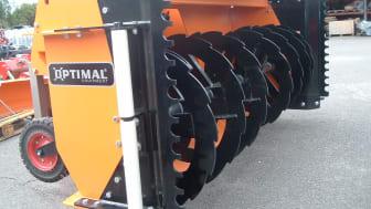 OPTIMAL snöfräs 2650HD, med stödrulle