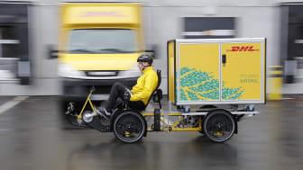 Vi välkomnar DHL el-lastcyklar till Nordstan Cargo Bike Hub