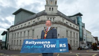 Mayor of Mid and East Antrim, Cllr William McCaughey launches Councils bid for city status.