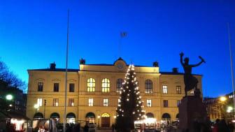 Tidigare julgran på Stora torget i Karlstad