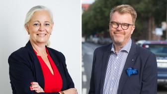 Caroline Drabe, vd, Riksförbundet M Sverige och Tommy Letzén, vd, MRF