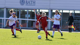 Northumbria University Women's Football Team on the ball