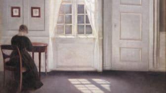 """""""En stue i Strandgade med solskin på gulvet"""" af Vilhelm Hammershøi fra 1901"""