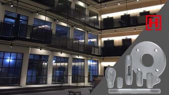 Halfen DETAN dragstångssystem i Trikåfabriken, Hammarby Sjöstad