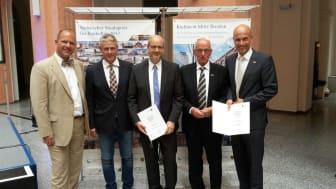 v.l.: Florian Brandenburg (KID),  Peter Gaebler (ZÜBLIN),  Axel Walther (KID), Hartmut Beyer (ZÜBLIN), Gerald Endlich (ZÜBLIN), Copyright: ZÜBLIN