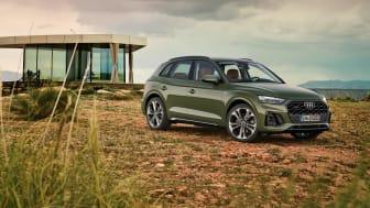 Nya uppdaterade Audi Q5 med C2X-teknik och OLED-bakljus