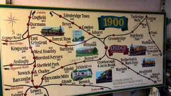 Eridge mural rail map
