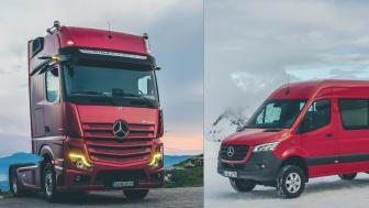 Nya Actros och Sprinter från Mercedes-Benz hade båda premiär 2018.