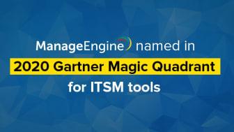 ManageEngine placerar sig i 2020 Gartner Magic Quadrant for IT Service Management Tools