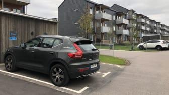 I BoKlok Glasörten i Bunkeflostrand kan de boende nyttja två bilar från Sunfleet.