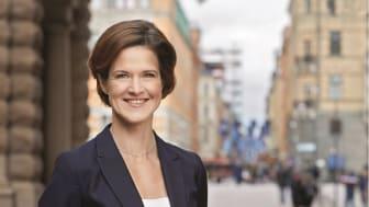 Anna Kinberg Batra talar på Fastighetsmässan i Stockholm