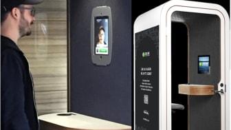 Jobboxen innehåller vår mjukvara och en iPad och är helt ljudisolerad.